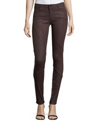 Brockenbow Waxpuzzle Mirror Mid Rise Skinny Jeans Red