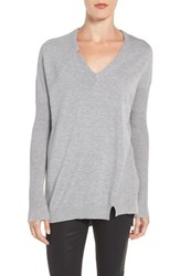 Trouve Women's Asymmetrical Sweater Grey Heather
