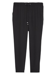 Violeta By Mango Flowy Baggy Trousers Black