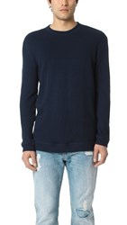 Naked And Famous Long Sleeve Double Faced Shirt Navy