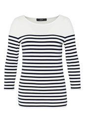Hallhuber Stripe Top Blue