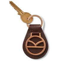 Kingsman Deakin And Francis Leather And Rose Gold Plated Key Fob Gold