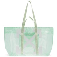 Off White Green And Arrows Tote