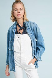 Amo Drapey Denim Jacket Denim Dark