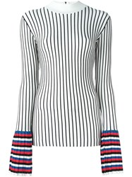 Emilio Pucci Striped Jumper White