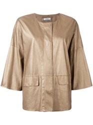 Desa 1972 High Shine Jacket Metallic