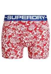 Superdry Shorts Red Classic Hawaiian Voltage Blue