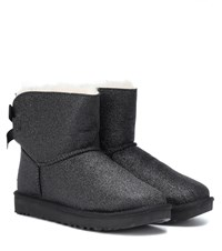 Ugg Mini Bailey Bow Glitter Ankle Boots Black