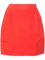 Fleur Du Mal High Waisted Mini Skirt Red