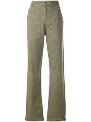 Anine Bing Scout Military Trousers Green