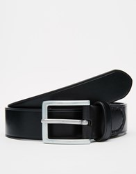 Racing Green Leather Belt Black