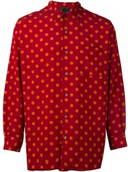 Jean Paul Gaultier Vintage Polka Dot Print Shirt Red
