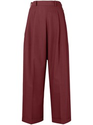 Jean Paul Gaultier Vintage High Waisted Stripped Trousers Red