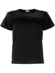 Red Valentino Redvalentino Tulle Panel T Shirt 60