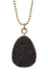 Baublebar Druzy Ball Chain Pendant Necklace Black
