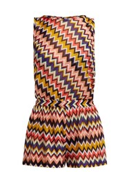 Missoni Mare Multicoloured Zigzag Playsuit Multi