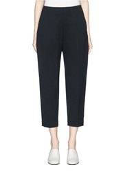 Kuho 'Lachaise' Zip Cuff Cropped Suiting Pants Black
