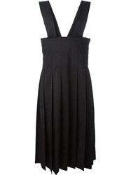 Comme Des Gara Ons Pleated Pinafore Dress Black