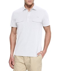 Lacoste Double Pocket Short Sleeve Polo Shirt White