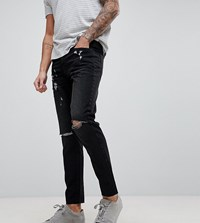 Brooklyn Supply Co. Co Slim Jeans With Knee Rip And Repair Blue