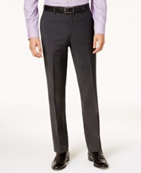 Bar Iii Men's Slim Fit Active Stretch Solid Dark Gray Suit Pants Created For Macy's