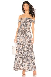Spell And The Gypsy Collective Amethyst Shirred Sundress Navy