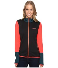 Marmot Thirona Jacket Black Neon Coral Women's Coat
