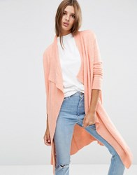 Asos Cardigan In Popcorn Yarn Blush Pink