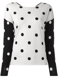 Sun 68 Polka Dot Jumper White