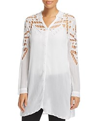 Johnny Was Collection Diamond Eyelet Tunic White