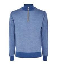 Peter Millar Birdseye Knitted Zip Sweater Male