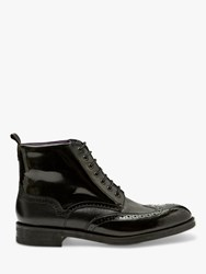Ted Baker Twrehs Leather Brogue Boots Black