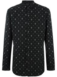 Just Cavalli Geometric Print Shirt Black