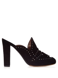 Tabitha Simmons Diana Stud Embellished Slip On Mules Black
