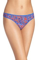 Ongossamer Women's On Gossamer 'Triple Twist' Mesh Thong
