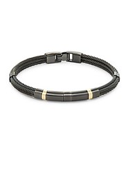 Alor 18K Yellow Gold And Stainless Steel Cable Bracelet