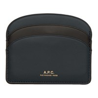 A.P.C. Blue Half Moon Card Holder