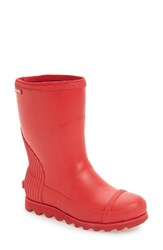 Sorel Women's Joan Short Rain Boot Burnt Henna Red Dahlia