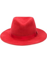 House Of Lafayette 'Johnny' Fedora Red