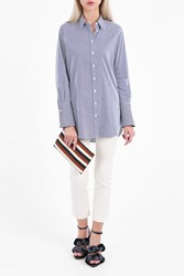 Joseph Women S Emile Striped Shirt Boutique1 Navy