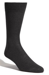 Men's Lorenzo Uomo Merino Wool Blend Socks Grey 3 For 30 Charcoal