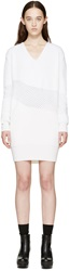 Kenzo White Mohair Honeycomb Dress