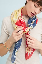 Epice Daisy Square Scarf Red