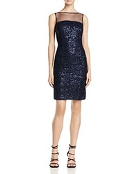 Js Collections Sequin Ruched Dress Navy