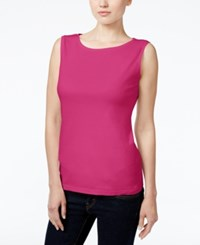 Karen Scott Petite Boat Neck Tank Top Only At Macy's Wild Punch