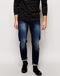 Voi Jeans Tapered Fit Jean Dark Wash Blue