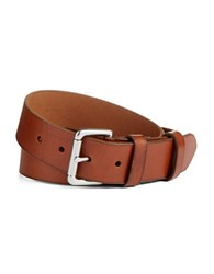 Polo Ralph Lauren Embossed Logo Patch Leather Belt Tan
