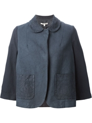 Hache Wide Sleeve Panelled Jacket Blue
