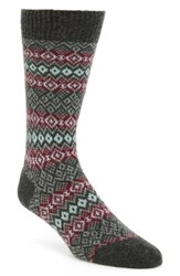 Pantherella Men's Fenton Fair Isle Cashmere Blend Socks