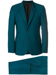 Paul Smith A Suit To Travel In Tailored Suit Cupro Mohair Wool Green